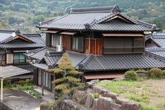 Traditionellt hus, Japan Fotografering för Bildbyråer