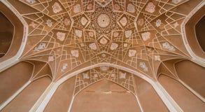 Traditionellt hus Khan-e Abbasian i Kashan, Iran Royaltyfri Bild