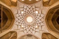 Traditionellt hus Khan-e Abbasian i Kashan, Iran Royaltyfria Foton
