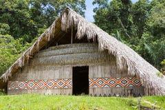 Traditionellt hus med unika modeller i Manaus, Brasilien Fotografering för Bildbyråer