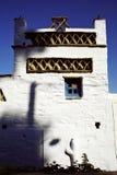 Traditionellt hus på den Triantaros byn, Tinos ö, Cyclades, Grekland Royaltyfria Bilder