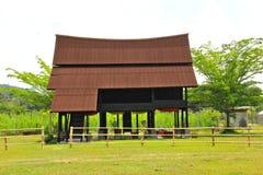 Traditionellt hus på Kuala Pilah Arkivbilder