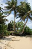 Traditionellt hus på stranden Royaltyfria Foton