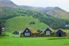 Traditionellt icelandic hus royaltyfri fotografi