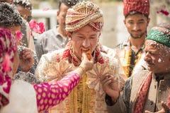 Traditionellt indiskt bröllop Arkivbild