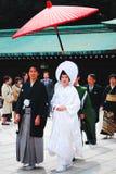 Traditionellt japanskt bröllop Arkivfoto