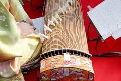 Traditionellt japanskt instrument Arkivfoto