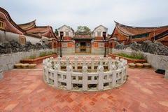 Traditionellt kines-stil hus i Taiwan royaltyfri fotografi