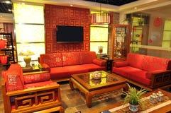 traditionellt kinesiskt möblemang Fotografering för Bildbyråer