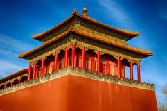 traditionellt kinesiskt tak nationell stil Klart ljust baner Royaltyfri Fotografi