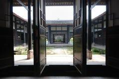 traditionellt kinesiskt vardagsrum Arkivbild