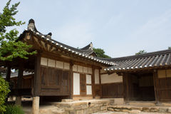 Traditionellt koreanskt hus Arkivfoto