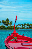 Traditionellt maldivian fartyg royaltyfri fotografi
