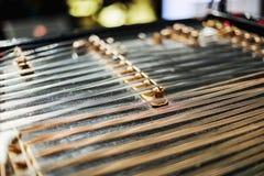 Traditionellt musikinstrument för träcymbal Arkivbilder