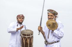 Traditionellt omani sjunga Arkivbilder