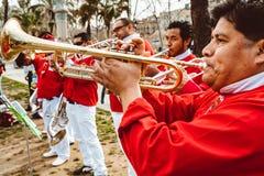 Traditionellt ?r den Catalan showen det m?nskliga tornet som traditionellt byggs i festivaler p? Catalonia royaltyfria bilder