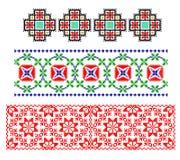 traditionellt romanian tema för matta stock illustrationer