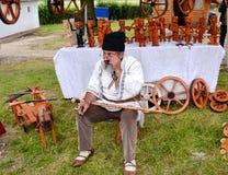 Traditionellt rumänskt wood arbete Royaltyfria Bilder