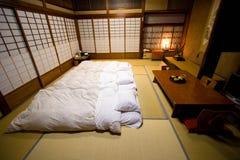 Traditionellt rum Ryokan för japansk stil Royaltyfri Fotografi