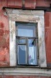 Traditionellt ryskt fönster Royaltyfria Bilder