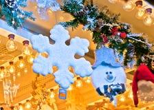 Traditionellt shoppa för jul Arkivbilder