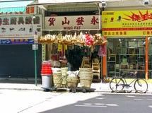 Traditionellt shoppar för hushållobjekt och möblemang i Yau Ma Tei Hong Kong Royaltyfri Foto
