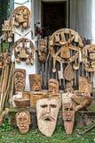 Traditionellt snidit rumänskt dekorativt trä Royaltyfri Fotografi