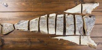 Traditionellt snitt av rimmad torsk Arkivbild