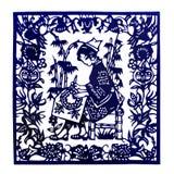 Traditionellt snitt för Kina papper Royaltyfri Bild