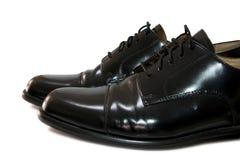 traditionellt svart klassiskt läder male polerat s Royaltyfri Bild