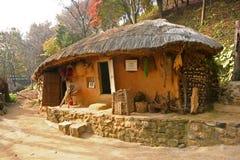 Traditionellt sydkoreanskt hus Arkivbild