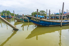 Traditionellt träfartyg Royaltyfria Bilder