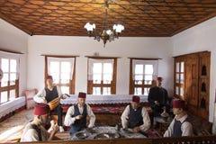 Traditionellt turkiskt hus i den Safranbolu staden Royaltyfri Bild