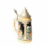 Traditionellt tyskt öl rånar (isolerat) Arkivbild