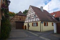 Traditionellt tyskt hus Fotografering för Bildbyråer