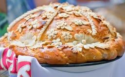 traditionellt ukrainskt bröllop för bröd royaltyfri bild