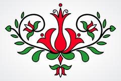 Traditionellt ungerskt blom- motiv Fotografering för Bildbyråer