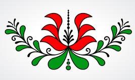 Traditionellt ungerskt blom- motiv Royaltyfri Fotografi