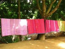 Traditionellt väva i Mai Chau Royaltyfri Fotografi