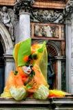 traditionellt venetian för karnevalmaskering Arkivbilder