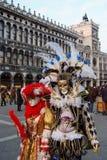 traditionellt venetian för karnevalmaskering Arkivfoto
