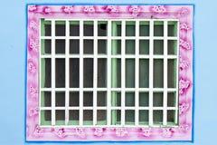 traditionellt vitt fönster för kinesisk stil Royaltyfri Bild