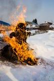 Traditionerna av hedniska slaviska ritualer av maslenitsaen arkivbilder
