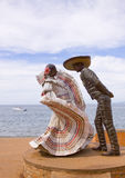 Traditionhal mexican dancers sculpture Stock Photos