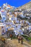 Traditionlal byar av Grekland - Olimpos Arkivbilder