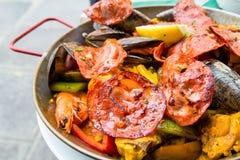 traditionnal испанского языка paella еды Стоковое Фото