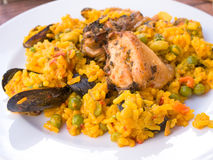traditionnal испанского языка paella еды Стоковое фото RF