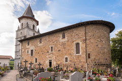 Traditionnal church with graveyard Stock Photography