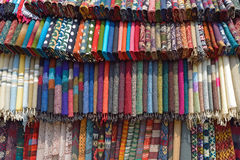 Traditionnal fabric in a tamel market  Nepal, Asia. Stock Image
