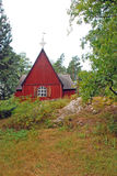 Traditionnal Finnish church Stock Photo